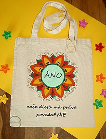 Nákupné tašky - Taška ručne maľované Áno - 9796000_