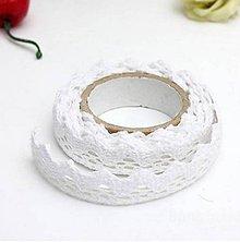 Galantéria - C120 Čipka bavlnená samolepiaca 1,8 cm (Biela) - 9793687_