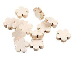 Korálky - KD158 Korálka drevená kvietok 2 cm - 9793773_