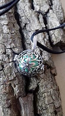 Iné šperky - Hudební přívěsek pro těhotné ženy Mexická bola Kytičky - 9796026_