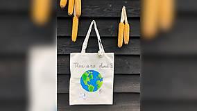 Iné tašky - ♥ Plátená, ručne maľovaná taška ♥ - 9794763_