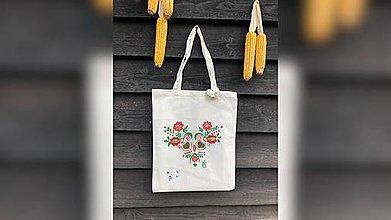 Iné tašky - ♥ Plátená, ručne maľovaná taška ♥  (R3) - 9794823_