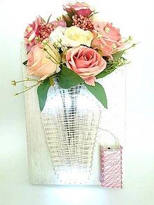 Dekorácie - Kvetinky vo váze (svietim:) - 9795324_