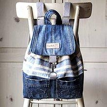 Batohy - Retro ruksak pásikavý - 9792893_