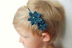 Ozdoby do vlasov - Čelenka - smaragdově zelená - 9793201_
