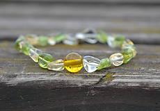 Náramky - Olivín, citrín náramok - 9794136_