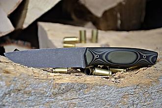 Nože - Koriziiodolný nôž z ocele N690 s povrchovou úpravou