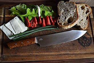 Nože - Koriziiodolný kuchynský nôž z ocele N690 - 9795955_