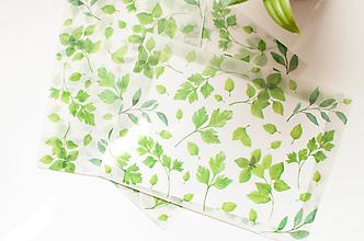 Papier - Transparentná obálka s potlačou XL (bylinková) - 9795580_
