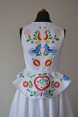 Šaty - ručne maľovaná svadobná vesta - 9794452_