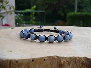 Náramky - shamballa náramok z Aventurínu modrého - 9792982_