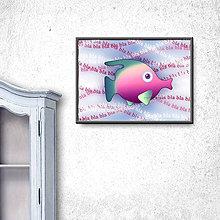Grafika - Ukecaná ryba (digitálna grafika) 2 - 9793933_