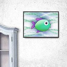 Grafika - Ukecaná ryba (digitálna grafika) 3 - 9794135_