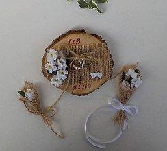 Prstene - Svadobný vankúšik - 9798827_