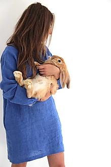 Detské oblečenie - Dievčenské teen ľanové šaty - 9797428_