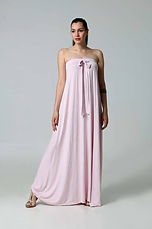 Šaty - Šaty dlhé bledo ružové - 9796158_