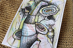 Kresby - vesmírny kvet - 9796347_