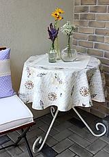 Úžitkový textil - okrúhly obrus so vzorom Paris dream - 9797645_