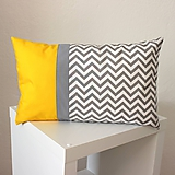 Úžitkový textil - vankúš Chevron sivo-žltý 30x50cm - 9798946_