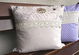 Úžitkový textil - vankúš Paris dream (3 druhy) - 9797949_