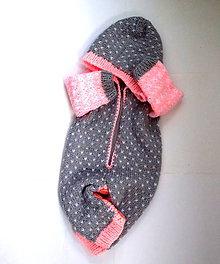 Detské oblečenie - Dupačky šedo - ružové - 9798351_