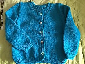 Detské oblečenie - tyrkysový svetrík - 9798590_