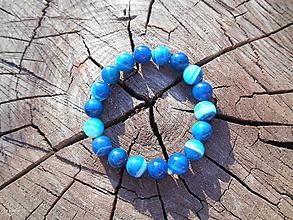 Náramky - Agata blue - 9797331_