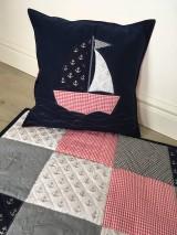 Textil - Detská deka námornícka s vankúšikom - 9797749_