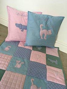 Textil - Detská deka psíček-mačička s vankúšikmi - 9797815_
