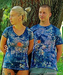 Tričká - Dámske a pánske tričká, párové, batikované, maľované MALÁ NOĆNÁ BÚRKA - 9797436_