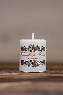 Darčeky pre svadobčanov - Menovka alebo darček pre svadobčanov - Sviečka - Vzor č.15 - 9634983_