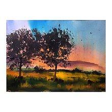 Obrazy - Pri zapade slnka - obraz - 9796864_