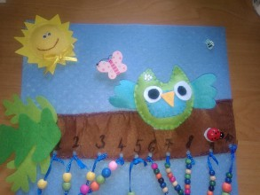 Hračky - V lese so sovičkou- textilná stránka pre deti - 9797308_