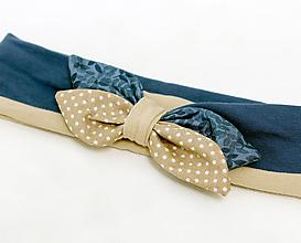 Detské doplnky - Elastická čelenka pre malé slečny - 9798489_