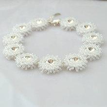 Náramky - Diamond ICE náramok (Ag925) (Ceylon White) - 9797607_