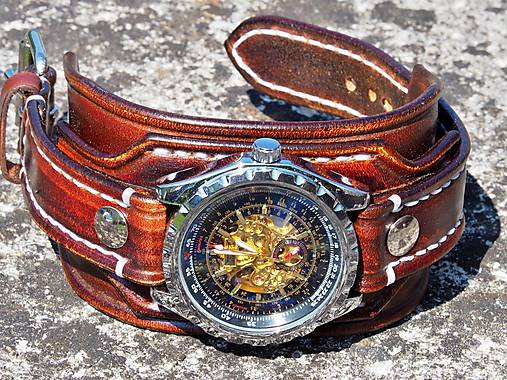 0c2a54739 Pánske hodinky, kožený hnedý náramok II / leon - SAShE.sk - Handmade ...