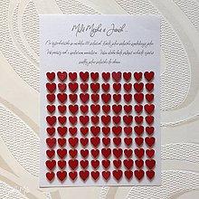 Darčeky pre svadobčanov - Červené srdiečka k výročiu svadby - doplnok k srdiečkovému srdcu - 9798306_