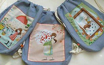 Detské tašky - Dievčenský ruksak, batoh, vak č.1    veľ.L - 9798158_