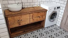 """Nábytok - Skrinka pod umývadlo 4"""" staré drevo """" - 9796654_"""