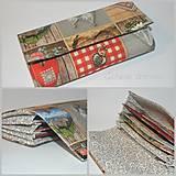 Peňaženky - Hnedá peňaženka - 9798454_