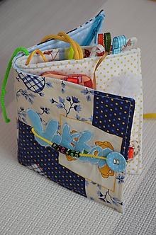 Hračky - Knižka detská, látková s menom - 9797131_