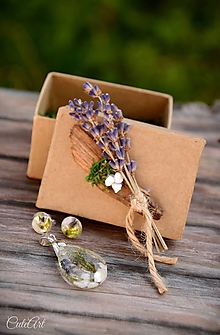 Sady šperkov - Levanduľová - sada prívesku a napichovacích náušníc - 9796878_