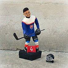 Socha - Hokejista - socha podľa fotografie - 9797138_