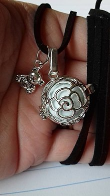 Iné šperky - Pre budúcu mamičku Mexická bola hudobný prívesok - 9796052_