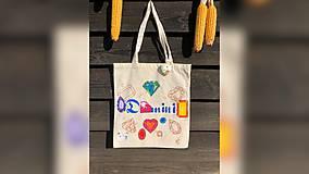 Iné tašky - ♥ Plátená, ručne maľovaná taška ♥ - 9798043_