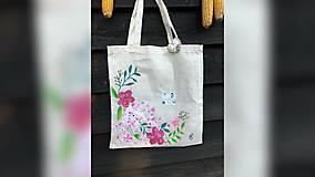 Iné tašky - ♥ Plátená, ručne maľovaná taška ♥ - 9798199_