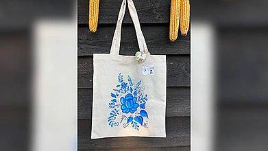 Iné tašky - ♥ Plátená, ručne maľovaná taška ♥ - 9798353_