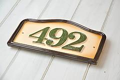 Tabuľky - Číslo domu z keramiky - 9796796_