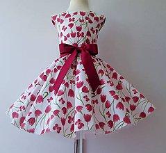 d537d2c14fa1 Detské oblečenie - Detské retro šaty 122-128 - 9798755