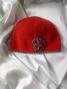 Čiapky - červená čiapka - 9796340_